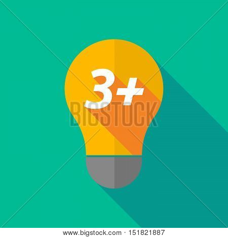Long Shadow Light Bulb Icon With    The Text 3+