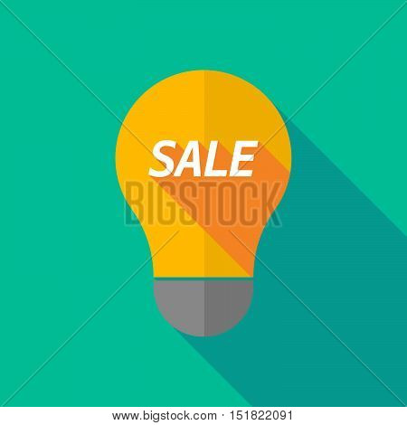 Long Shadow Light Bulb Icon With    The Text Sale