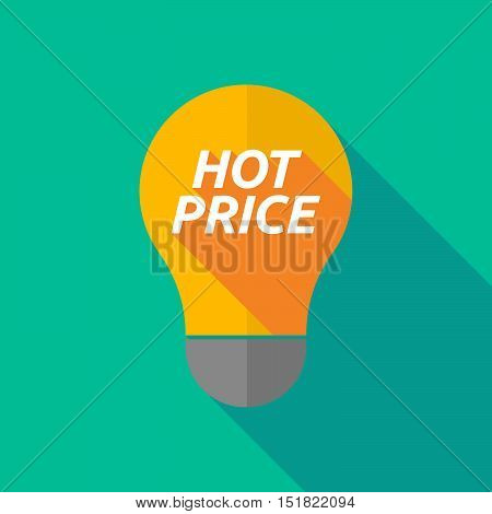 Long Shadow Light Bulb Icon With    The Text Hot Price
