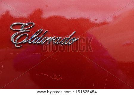 Cadillac Eldorado Vintage Car Letters