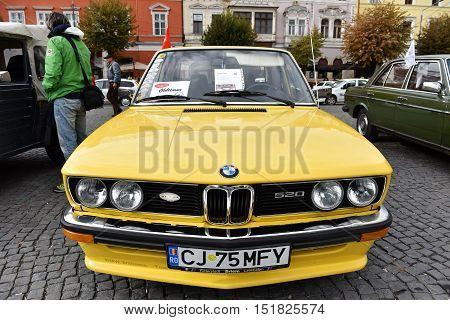 Yellow Bmw Vintage Car