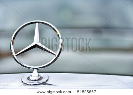 Mercedes Vintage Car Sign From Germany