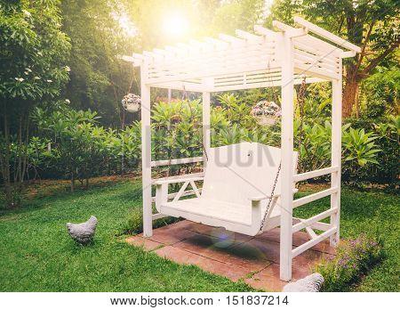 Green garden in the backyard, Ratchaburi Thailand