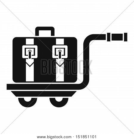Baggage cart icon. Simple illustration of baggage cart vector icon for web