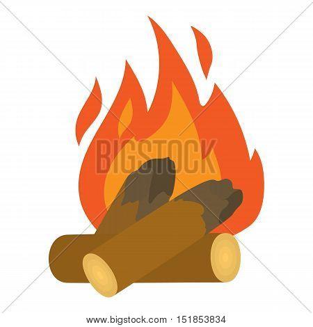 Campfire icon. Cartoon illustration of campfire vector icon for web