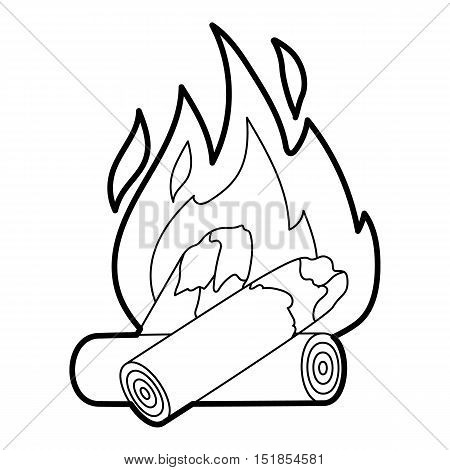 Campfire icon. Outline illustration of campfire vector icon for web