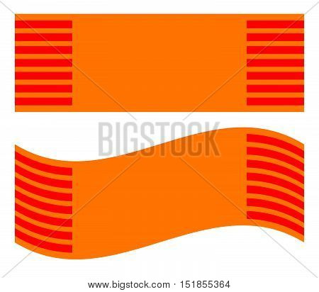 Simple Scarf, Carpet Symbol Resting And Waving Version