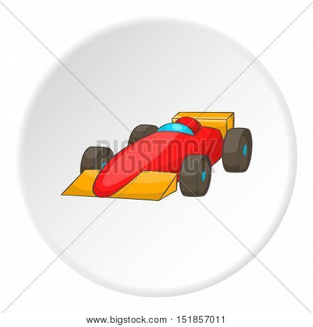 Red sport car icon. Cartoon illustration of red sport car vector icon for web