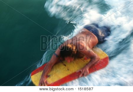 Boogie Boarder Moving Fast