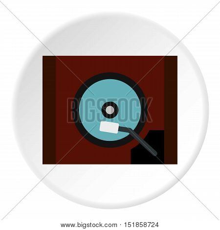 Gramophone icon. Flat illustration of gramophone vector icon for web design