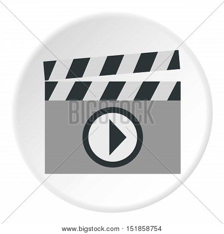 Clapboard icon. Flat illustration of clapboard vector icon for web design
