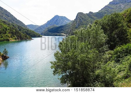 Escales Lagoon, In The Catalan Pyrenees, Spain