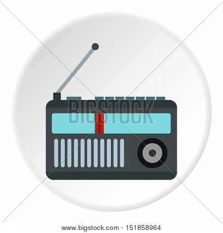 Retro radio icon. Flat illustration of radio vector icon for web design