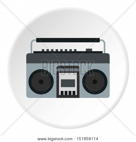 Retro tape recorder icon. Flat illustration of tape recorder vector icon for web design