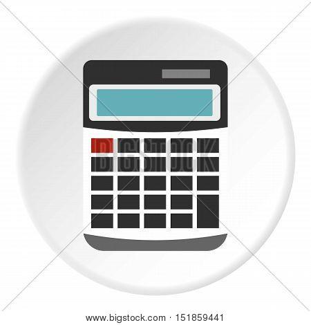 Calculator icon. Flat illustration of calculator vector icon for web design