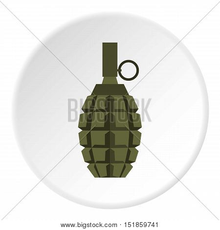 Hand grenade icon. Flat illustration of grenade vector icon for web design