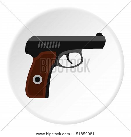 Pistol icon. Flat illustration of pistol vector icon for web design