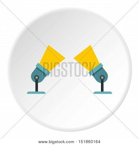 Spotlights icon. Flat illustration of spotlights vector icon for web design