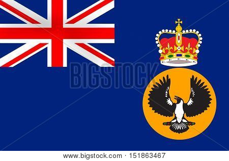 Flag of South Australia (SA) is a state in the southern central part of Australia