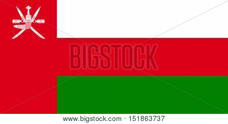 Omani national official flag. Patriotic symbol banner element background. Accurate dimensions. Flag of Oman in correct size and colors vector illustration