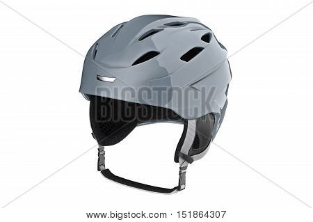 Helmet ski winter sportswear protection. 3D graphic