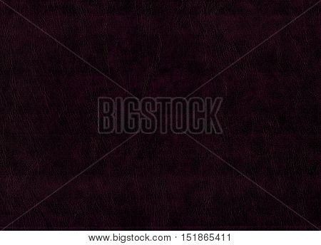 Blank sheet of dark brown leatherette useful as a background