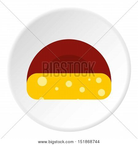 Dutch cheese icon. Flat illustration of dutch cheese vector icon for web