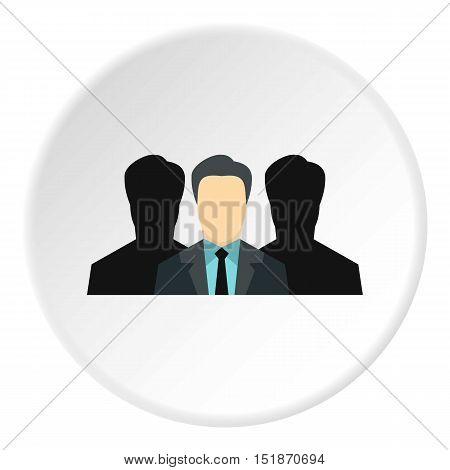 Unidentified male avatars icon. Flat illustration of unidentified male avatars vector icon for web