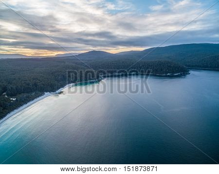 Aerial View Of Fortescue Bay, Tasmania
