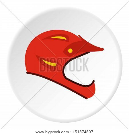 Helmet for motorcyclist icon. Flat illustration of helmet for motorcyclist vector icon for web