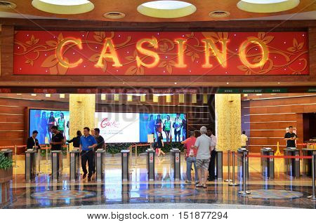 Casino On The Island Of Sentosa, Singapore.