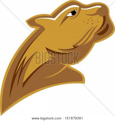 stock logo illustration strong power puma head