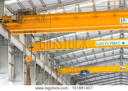 Hook On The Crane Under The Roof
