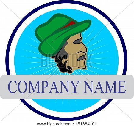 senior people style fashion stock logo illustration