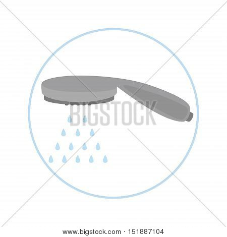 Shower Head With Water Drops