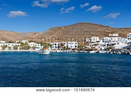 Karavostasis village on Folegandros islands early in the morning.