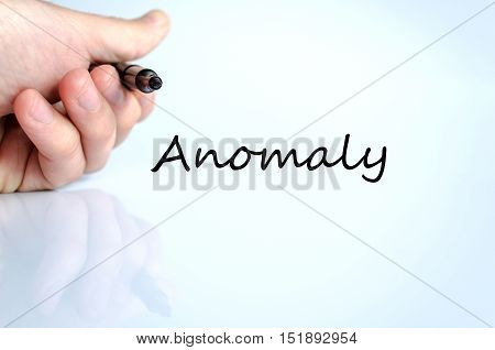Anomaly text concept isolated over white background