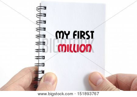 My first million text concept isolated over white background