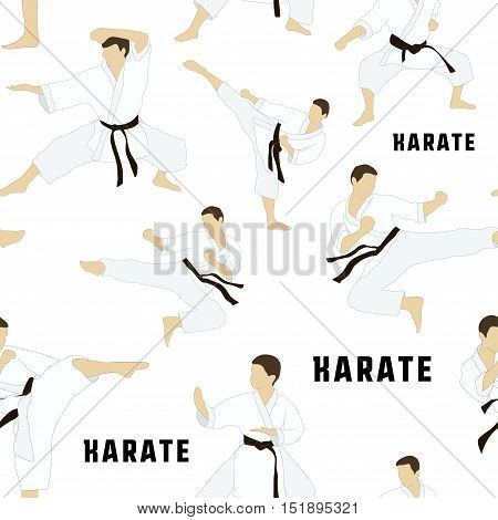 Karate set pattern. Applicable to Karate and Taekwondo.