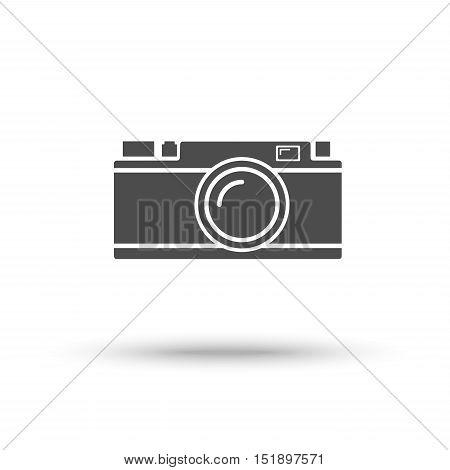 Rangefinder camera icon isolated on white background