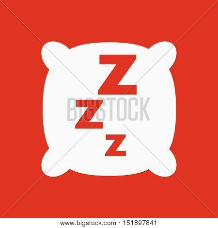 The pillow icon. Cushion and dream, sleeping, hotel, hostel symbol. Flat Vector illustration