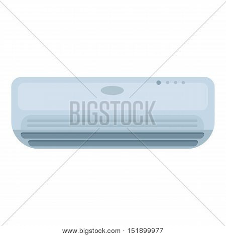 Air conditioner icon in cartoon style isolated on white background. Hotel symbol vector illustration.