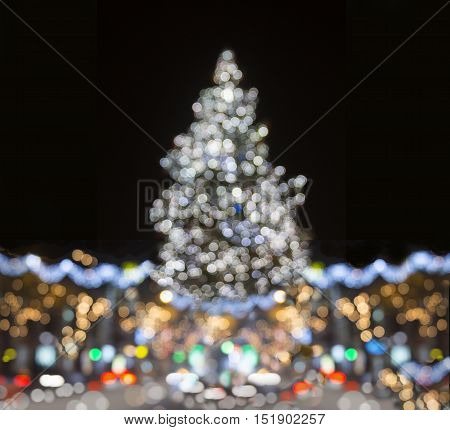 the Shinny Christmas Tree holiday abstract background