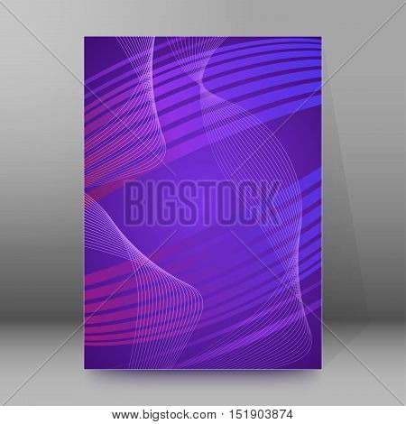 Background Report Brochure Cover Pages A4 Style Abstract Glow07