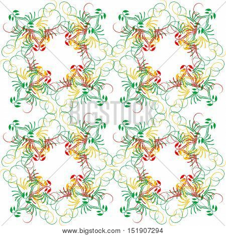 Decoration vintage element. Floral style.