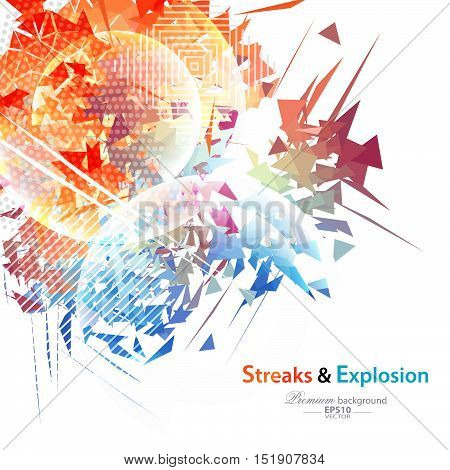 Streaks And Explosion Background