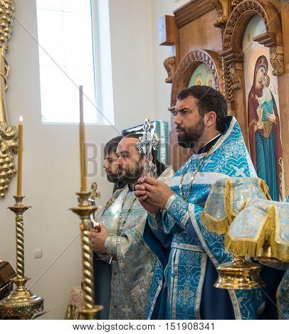 LUTSK UKRAINE - 14 OCTOBER 2016: Slavonic Religious celebration Pokrov