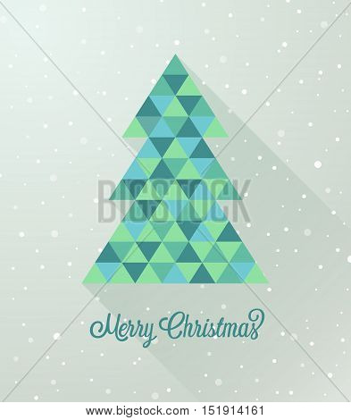 Abstract Creative Colorful Christmas tree. Vector illustration.