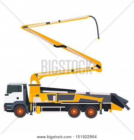 flat concrete pump in vector format eps10