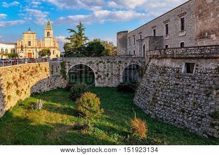 Venosa Castle (Basilicata Italy) at golden hour
